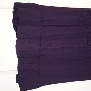 Old Navy Dresses - Ruffled Eggplant Fluttery Short-Sleeve Dress